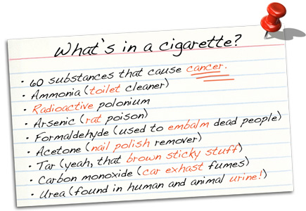 cigarette smokers butts