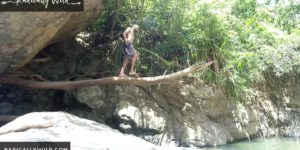 Puerto Rico Barefoot Adventures EP 4: Jumping Off A Tree Plank At  beautiful River