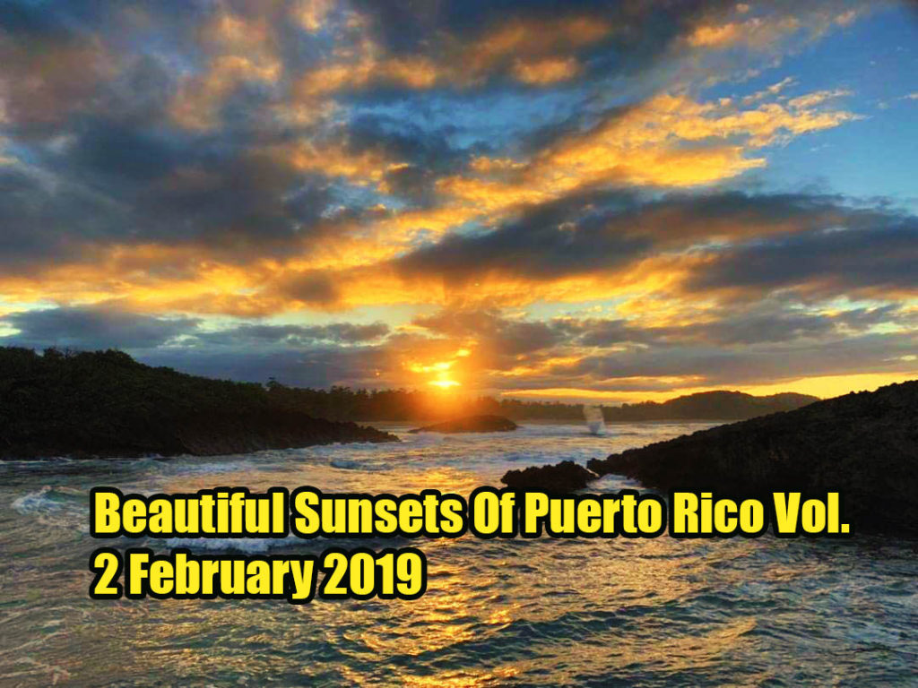 sunset of puerto rico february 2019
