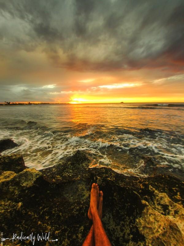 barefoot sunset