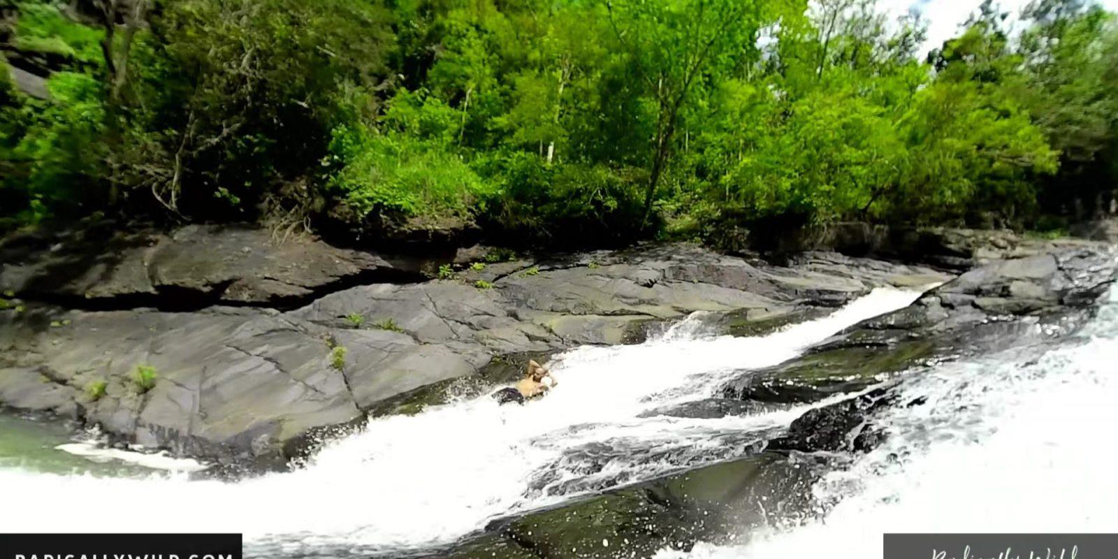 rock slide waterfall river puerto rico