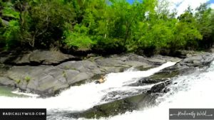 rock slide waterfall river puerto rico